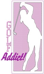 Golf Addict embroidery design