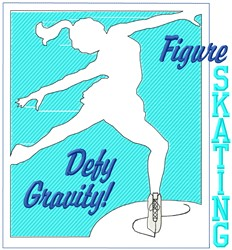 Defy Gravity embroidery design