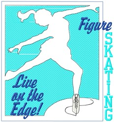 Live On The Edge embroidery design