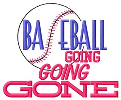 Going Gone embroidery design