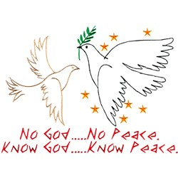 Know God embroidery design