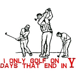 Only Golf embroidery design
