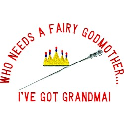 Fairy Godmother embroidery design