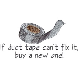 Duct Tape embroidery design
