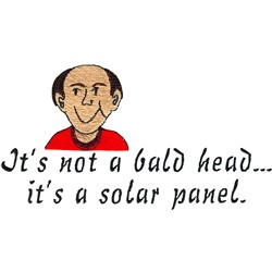 Solar Panel Head embroidery design