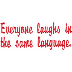 Laughing Language embroidery design
