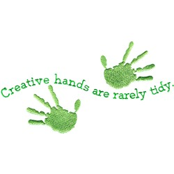 Creative Hands embroidery design