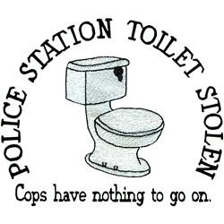 Toilet Stolen embroidery design
