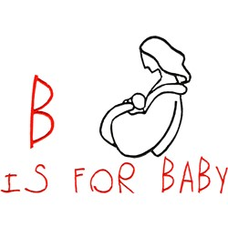 B for Baby embroidery design