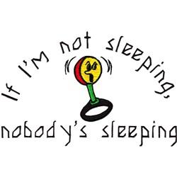 Nobodys Sleeping embroidery design