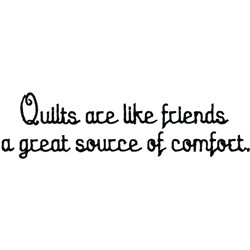 Quilts Are Friends embroidery design