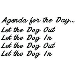Daily Agenda embroidery design