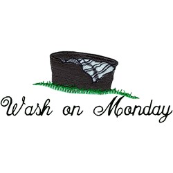 Monday Wash embroidery design
