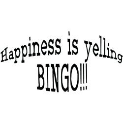 Happiness Bingo embroidery design