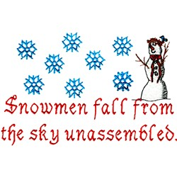 Snowmen Unassembled embroidery design