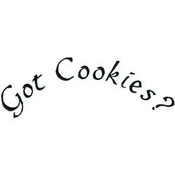 Got Cookies embroidery design