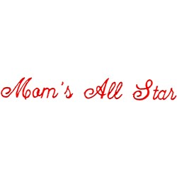 Moms All Star embroidery design