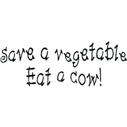 Eat a cow embroidery design
