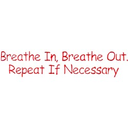 Breathe embroidery design