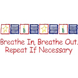 Breath in and out embroidery design