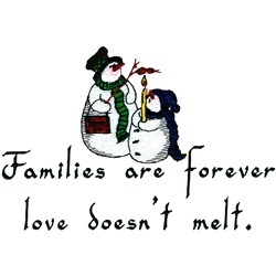 Families embroidery design