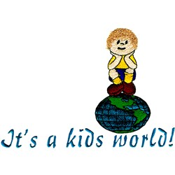 Kids World embroidery design