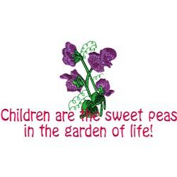 Garden Saying embroidery design