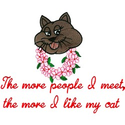 I Like My Cat embroidery design
