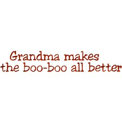 Boo-Boo Better embroidery design
