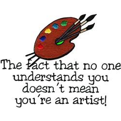 Not An Artist embroidery design