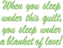 Under This Quilt embroidery design