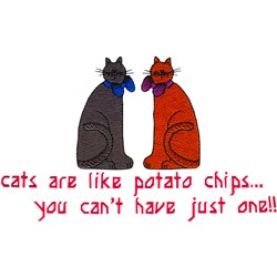 Cats Like Chips embroidery design