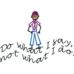 What I Say embroidery design