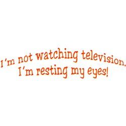 No TV embroidery design