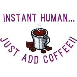 Instant Human embroidery design
