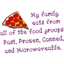 All Food Groups embroidery design