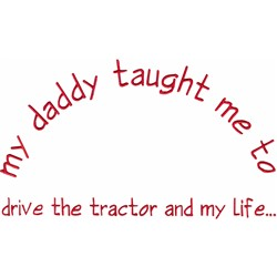 Drive The Tractor embroidery design