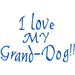 Grand-dog embroidery design