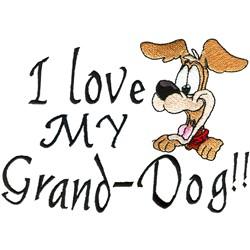 Grand-dog embroidery design