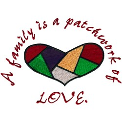 Patchwork of love embroidery design