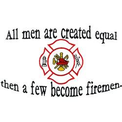 A few firemen embroidery design
