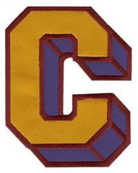 Sport Block C embroidery design