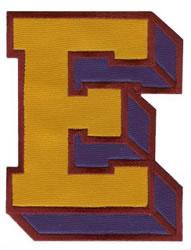 Sport Block E embroidery design