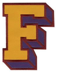 Sport Block F embroidery design