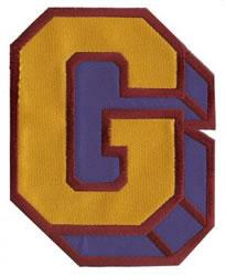 Sport Block G embroidery design