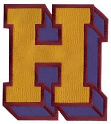 Sport Block H embroidery design