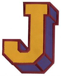 Sport Block J embroidery design