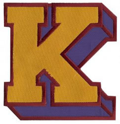 Sport Block K embroidery design