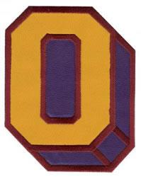 Sport Block O embroidery design
