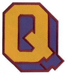 Sport Block Q embroidery design